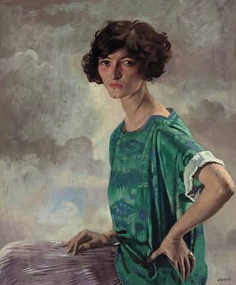 Portrait Of Gertrude Sanford Print by William Orpen