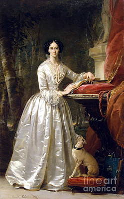 Robertson Painting - Portrait Of Grand Duchess Maria Alexandrovna by Christina Robertson