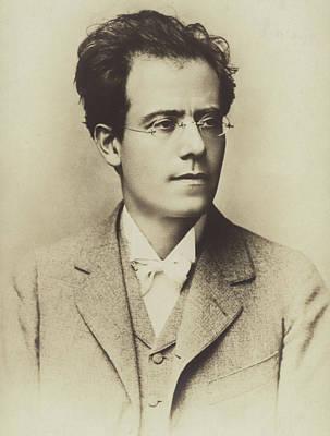 Portrait Of Gustav Mahler Print by Austrian School
