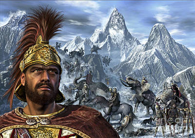 Portrait Of Hannibal And His Troops Print by Kurt Miller