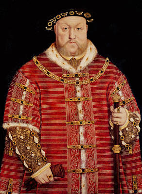 The Royal Family Painting - Portrait Of Henry Viii by Hans Holbein the Younger