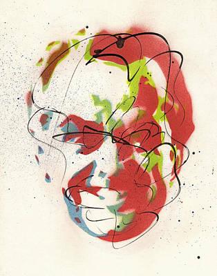 Jack Nicholson Painting - Portrait Of Jack Nicholson by Ryan  Hopkins