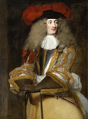 Painting - Portrait Of Jacques De Goyon IIi Sire De Matignon Comte De Thorigny Lieutnant Genera Des Armees by Henri Gascar