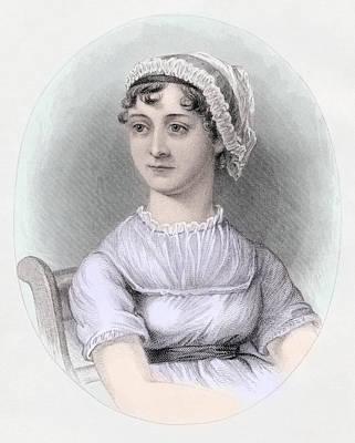 Portrait Of Jane Austen Print by Cassandra Austen