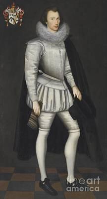 Marcus Painting - Portrait Of John Howe by Marcus Gheeraerts