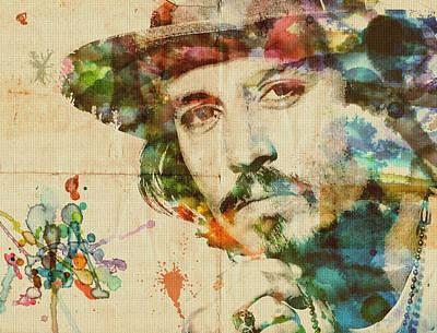 Portrait Of Johnny Print by Maria Arango