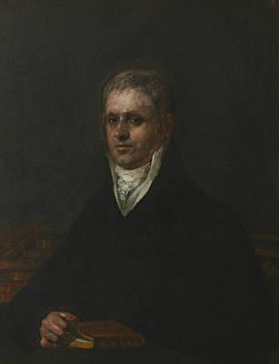 Portrait Of Jose Munarriz Print by Francisco Goya