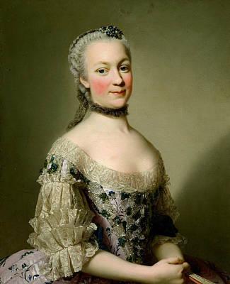 Portrait Of Katarzyny Z Zamoyskich Mniszchowej Print by Alexander Roslin