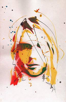 Portrait Of Kurt Cobain #2 Original by Ryan  Hopkins