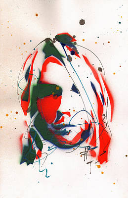 Portrait Of Kurt Cobain #3 Original by Ryan  Hopkins