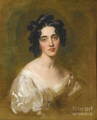 P.r Painting - Portrait Of Lady Georgina North  by Sir Thomas Lawrence