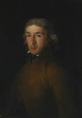 Portrait Of Leandro Fernandez Moratin Print by Francisco Goya