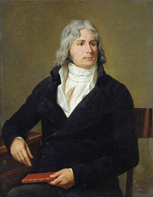 Painting - Portrait Of Louis-francois Bertin Called Bertin L'aine by Francois-Xavier Fabre