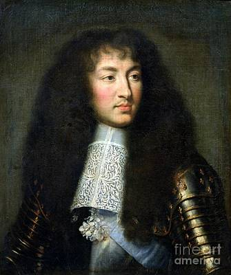 Sashes Painting - Portrait Of Louis Xiv by Charles Le Brun