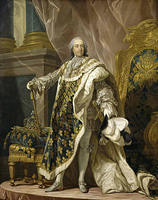 Portrait Of Louis Xv Of France Print by Louis-Michel van Loo