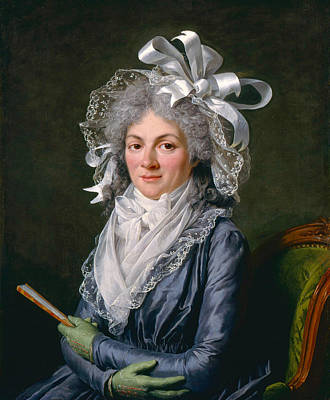 Painting - Portrait Of Madame De Genlis by Adelaide Labille-Guiard