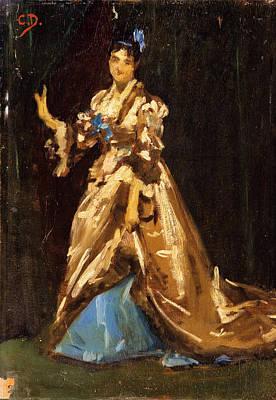 Carolus-duran Painting - Portrait Of Madame Ernest Feydeau by Carolus-Duran