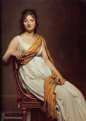 Raymond Painting - Portrait Of Madame Raymond De Verninac by Jacques Louis