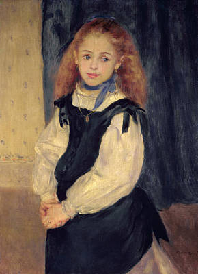 Necklace Painting - Portrait Of Mademoiselle Legrand by Pierre Auguste Renoir