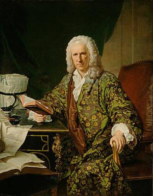 Jacques Aved Painting - Portrait Of Marc De Villiers Secretaire Du Roi by Jacques-Andre-Joseph Aved