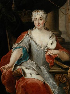 Portrait Of Maria Clementina Sobieska Print by Pier Leone Ghezzi