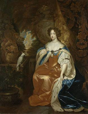 Portrait Painting - Portrait Of Mary Stuart, 1683 by Caspar Netscher