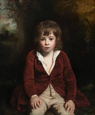 18th Century Painting - Portrait Of Master Bunbury by Joshua Reynolds