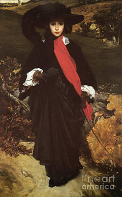 Female Painting - Portrait Of May Sartoris by Frederic Leighton