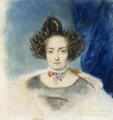 Drawing - Portrait Of Mme De Therville by Paul Delaroche