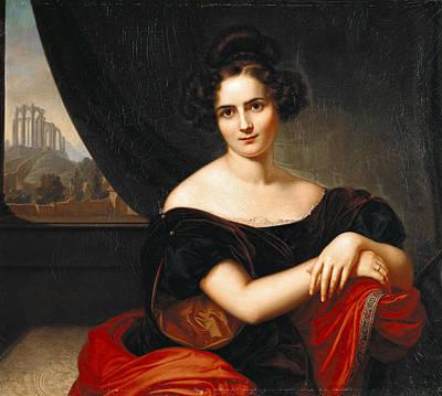 Painting - Portrait Of Mrs. Gedicke by Carl Joseph Begas