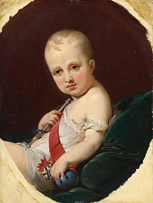 Painting - Portrait Of Napoleon Francois Joseph Charles Bonaparte King Of Rome by Jean-Baptiste Mauzaisse