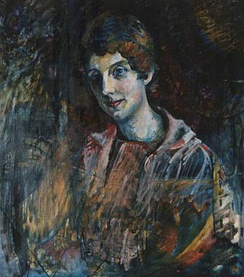 Portrait Of Nina Kandinsky Print by Wassily Kandinsky