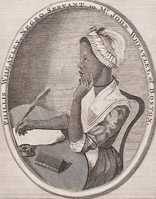 First-lady Drawing - Portrait Of Phillis Wheatley by American School