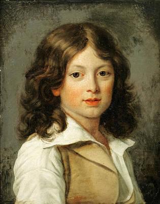 Jean-louis Laneuville Painting - Portrait Of Pierre Robillard De Peronville by Jean-Louis Laneuville