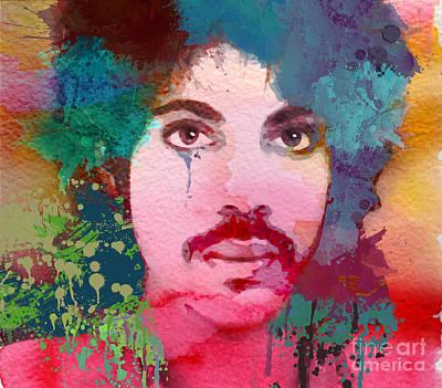 R.i.p Mixed Media - Portrait Of Prince by Irina Effa