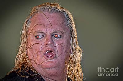 Red Photograph - Portrait Of  Pro Wrestler Gangrel Altered Version by  Jim Fitzpatrick