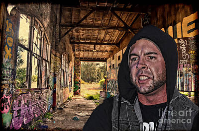 Tattoo Photograph - Portrait Of Pro Wrestler Mike Matthews In His Hideout  by Jim Fitzpatrick