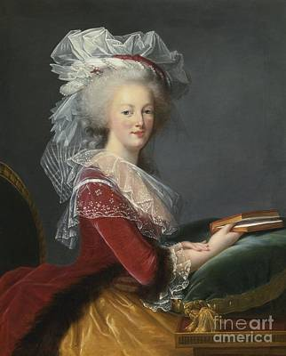 Elaborate Painting - Portrait Of Queen Marie-antoinette by Celestial Images