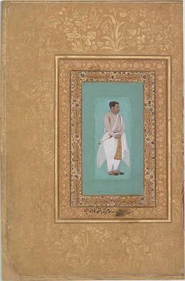 Raja Painting - Portrait Of Raja Suraj Singh Rathor by Eastern Accent