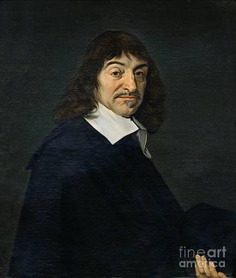Academic Painting - Portrait Of Rene Descartes by Frans Hals