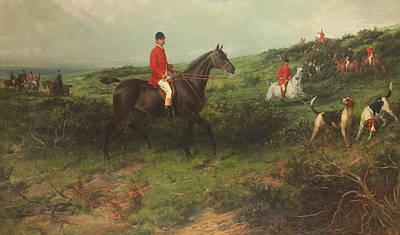 Portrait Of Richard James Streatfeild Print by George Earl