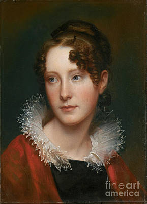 Peale Painting - Portrait Of Rosalba Peale by Celestial Images