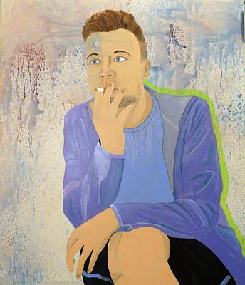 Kansas Artist Painting - Portrait Of Ross Redmon by Kevin Callahan