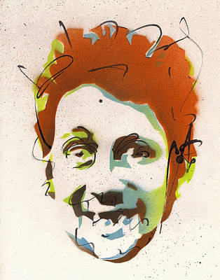 Peter Max Painting - Portrait Of Shane Macgowan #2 by Ryan  Hopkins