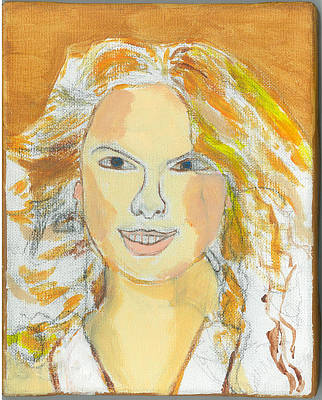 Taylor Swift Painting - Portrait Of Taylor Swift by Nat Solomon