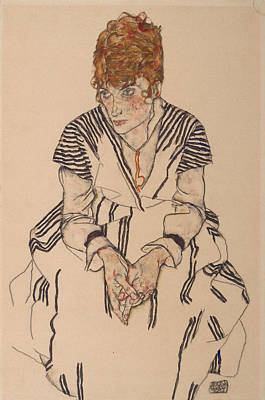 Adele Drawing - Portrait Of The Artist's Sister-in-law, Adele Harms, 1917 by Egon Schiele