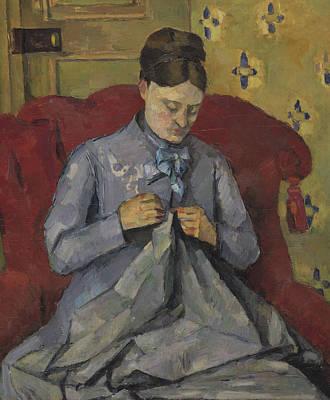 Portrait Of The Artist's Wife Print by Paul Cezanne