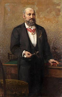 Egisto Lancerotto Painting - Portrait Of The Commander A Salviati by Egisto Lancerotto