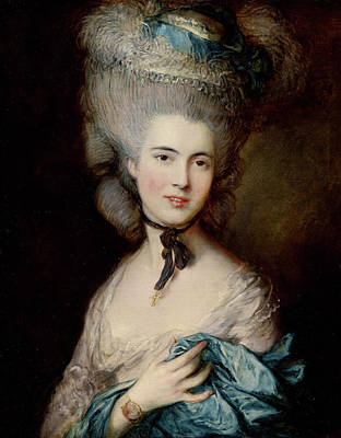 Portrait Of The Duchess Of Beaufort Print by Thomas Gainsborough