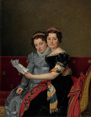 David Jacques Louis 1748-1825 Painting - Portrait Of The Sisters by Jacques-Louis David